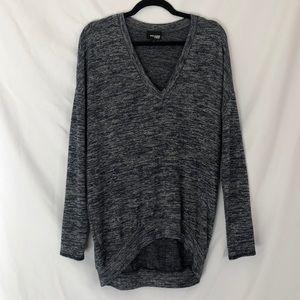 Aritzia Wilfred Free Grey Heathered Tunic Sweater
